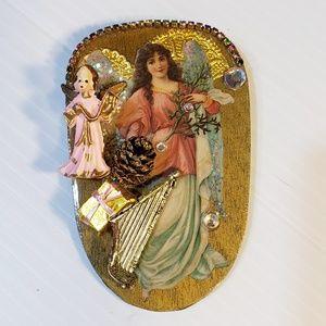 Jewelry - Majestic Vintage Handmade Angel Pin Brooch